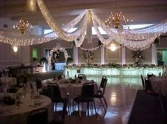 Ceiling drapes!