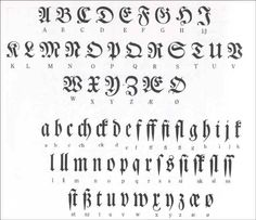 Gothic script, Blackletter