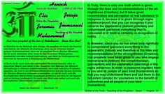 5) However, since you do not strive truly rightfully to comprehend (perceive) everything in the appearance (nature) and therefore in the laws and recommendations of the all-mightiness (Creation), true prophets have been given to you who engage themselves in (fathom) the comprehension (perception) and the explanation (teaching) of the signs