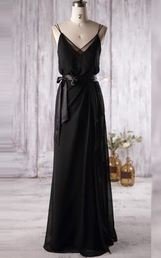 US$93.24 – Spaghetti Straps Floor Length Chiffon Bridesmaid Dress. www.junebridals.... Shop for long dresses, designer dresses, casual dresses, occasion dresses, backless dresses, elegant dresses, black tie dresses, We have a great number of 2017 spring bridesmaid dresses on sale. Available in Greenery, Gold, Yellow, Pink, Lavender, Burgundy, Peach…#JuneBridals.com