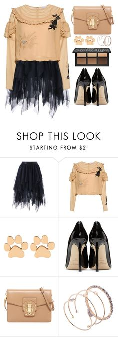 """""""My Style"""" by simona-altobelli ❤ liked on Polyvore featuring RED Valentino, Jimmy Choo, Dolce&Gabbana, Pumps, formal, Elegant, MyStyle and beigeandblack"""