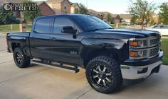 Wheel Offset 2015 Chevrolet Silverado 1500 Aggressive 1 Outside Fender Leveling Kit Custom Rims