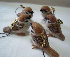 羊毛フェルトで作った小鳥のストラップやマスコットたちがすごくカワイイ件