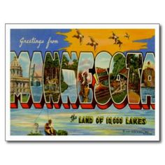 Greetings from MINNESOTA MN Post Card