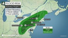 Prolonged periodic rainfall through Wednesday, flood watches issued