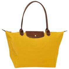 Medium tote - Bags - Longchamp - Sun - longchamp.com. Love the mustard.