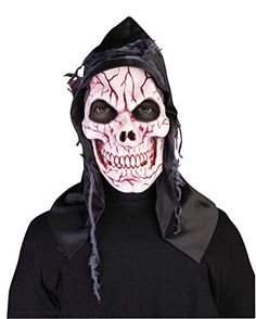 HOODED GHOST SKULL MASK  FANCY DRESS COSTUME ACCESSORY HALLOWEEN ** Check out the image by visiting the link-affiliate link.
