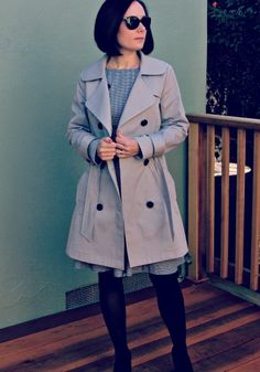 Robson Trench Coat--blogger created lined sleeve tutorial and noted modifications