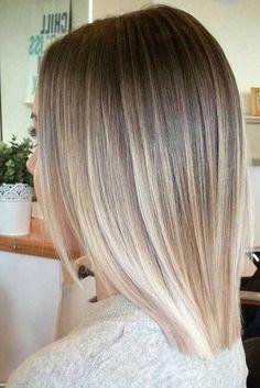 Ideas de mechas balayage en cabello liso