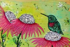 Hummingbird Tangle by MayhemHere.deviantart.com  love this
