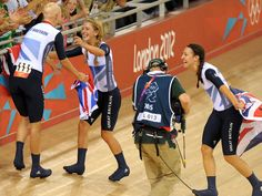 A stunning gold for Joanna Rowsell Laura Trott and Dani King in the team pursuit