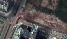 Satellite image provider DigitalGlobe Inc. released photos Friday that appear to show Syrian army tanks and other armored vehicles in the city of Homs.