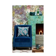 Riverdale velours fauteuil Chelsea , Donkerblauw