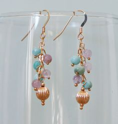 Boucles d'oreilles or 14 K et pierres fines : Boucles d'oreille par majela-bijoux