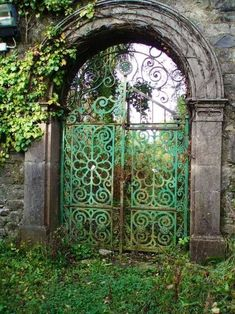 Green Patina Gate...lovely!500 x 66792KBmedia-cache-ak0.pinimg.com #gardengates