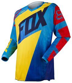 Fox Kids Jersey 180 Vandal Yellow/Blue 2015