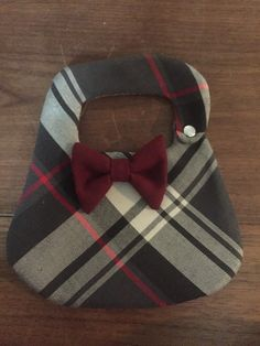 Dapper Boys  plaid tweed x small  bib bow tie snazzy dressy dapper baby shower birthday by padiddledesigns on Etsy https://www.etsy.com/listing/258847661/dapper-boys-plaid-tweed-x-small-bib-bow
