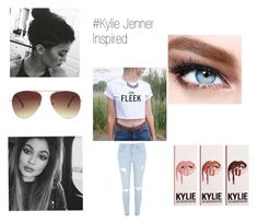"""""""Kylie"""" by kiana29 on Polyvore featuring Forever 21, Maybelline, River Island, women's clothing, women's fashion, women, female, woman, misses and juniors"""