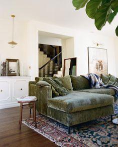 green velvet sofa for the win