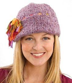 Tassel Fun Decorated Cap pattern from Lion Brand Yarns