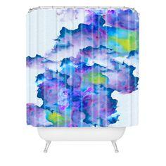 Viviana Gonzalez Watercolor love 2 Shower Curtain | DENY Designs Home Accessories