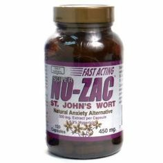 Only Natural Super No Zac Anxity Altrn 120 Cp by Only Natural. $19.54. natural alternatives to use for Depression and Stress.. No-Zac is a safe natural anti-anxiety alternative.. No-Zac is a safe natural anti-anxiety alternative. Certified potency extract concentrated and standardized for the preferred 0.14% Hypericin in a synergistic base of wild countryside St. John's Wort Powder.
