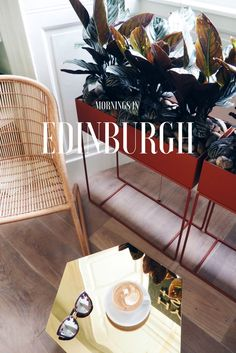 Enjoy a lazy morning in Edinburgh, Scotland at this gorgeous coffee shop on George Street. It's on the ground floor level of a newly opened design-led aparthotel that offers accommodation with a difference - click to see the full hotel & coffee shop / cocktail bar review!  Coffee | Coffee shops | Interior design | Boutique hotels | Breakfast inspiration | Interior design | Art hotels | Scotland travel | Edinburgh guide