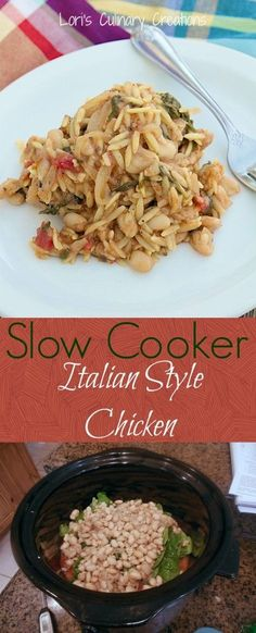 Slow Cooker Italian Style Chicken. You'll make this recipe again & again. www.lorisculinarycreations.com