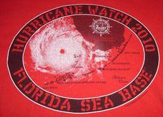 Hurricane Watch 2010 Florida Sea Base Boy Scouts of America T-Shirt Large Red