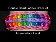 ▶ Rainbow Loom® Double Bead Ladder Bracelet - YouTube