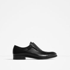 Image 1 of BUCKLED MONK LEATHER SHOES from Zara 71b809c08c