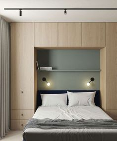 Minimalist Home Interior This Modern Scandinavian-Style Apartment is a Lesson in Warm Minimalism - NordicDesign.Minimalist Home Interior This Modern Scandinavian-Style Apartment is a Lesson in Warm Minimalism - NordicDesign Small Bedroom Designs, Modern Bedroom Design, Contemporary Bedroom, Modern House Design, Bedroom Small, Tiny Bedrooms, Small Bedroom Storage, Small Bedroom Interior, Small Home Interior Design