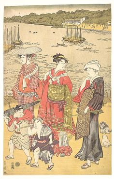 Utagawa Toyokuni I (Japanese, 1769–1825). Women at Takanawa Beach, ca. 1790s. Japan. Edo period (1615–1868). The Metropolitan Museum of Art, New York. Henry L. Phillips Collection, Bequest of Henry L. Phillips, 1939 (JP2825)