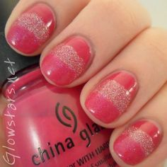 Your Favourite Summer Colour: two coats each of China Glaze Designer Satin, Kleancolor Holo Pink and Butter London Disco Biscuit