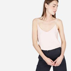 Everlane The Double-Lined Silk V-Neck Cam #ad