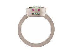ANIMAVIENNA SUSANNE BLIN - RING - Gold 750º, Rubies, Diamonds.