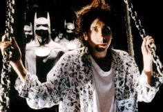Batman; Tim Burton on set.
