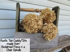 Repurposed Life Wooden Caddy from Reclaimed Fence