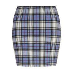 Grey Check Mini Tube Skirt
