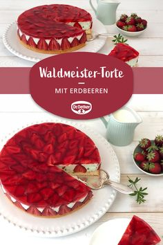 Erdbeer-Waldmeister-Torte Strawberry Waldmeister cake: A summer cake with a Waldmeister cream and st Cake Recipes, Dessert Recipes, Summer Cakes, Healthy Food List, Chocolate, Food Items, Eating Habits, Summer Recipes, Summer Desserts