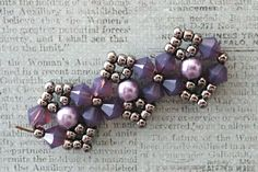 Linda's Crafty Inspirations: Playing with my beads...Bicones - Cyclamen Opal