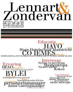 Leuk #cv om een werkgever nieuwsgierig te maken.  www.vivier.nl