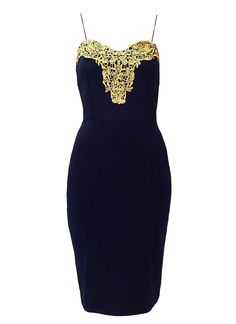 Red Label   Navy crochet lace trim bodycon dress, £17.99 from www.loveredlabel.com #bodycondress #loveredlabel #ootd