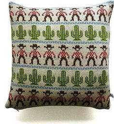 Knitted Lambswool Cowboy Cushion by Sally Nencini