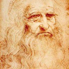 Autoportrait de Léonard de Vinci, vers 1510-1515 (détail). | www.vivoscuola.it