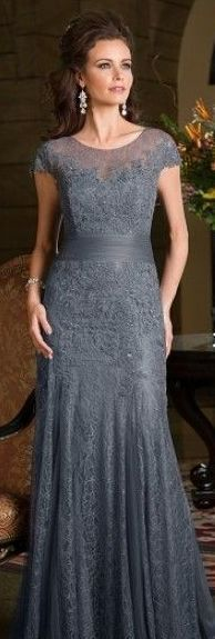 3fc62b52df0c Jade K168059 Lace gown with cap sleeve IN SAPPHIRE BLUE Madre Della Sposa