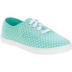 Faded Glory Girls Casual Canvas Shoe, Green