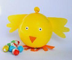 MadreCreativa: Pasqua: pulcino con sorpresa facilissimo