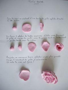 Faire une rose en pâte à sel ou porcelain froide