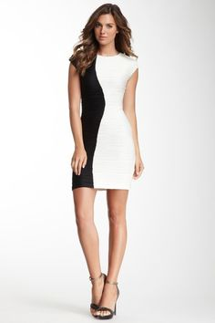 Two-Tone Sleeveless Dress by Donna Ricco on @HauteLook